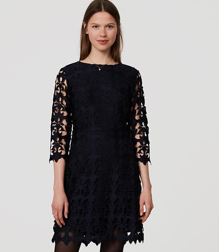 Image of Cutout Lace Dress