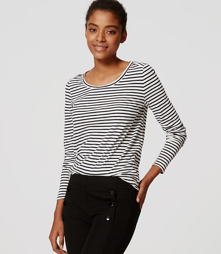 Image of Petite Striped Layering Tee