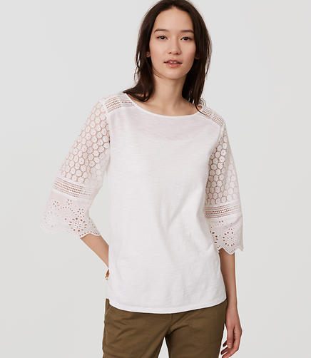 Image of Lace Bell Sleeve Top