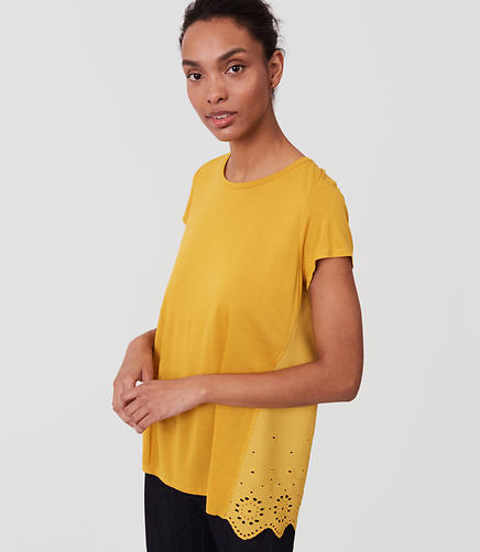 Image of Eyelet Back Tee