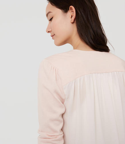 Image of Woven Back Cardigan