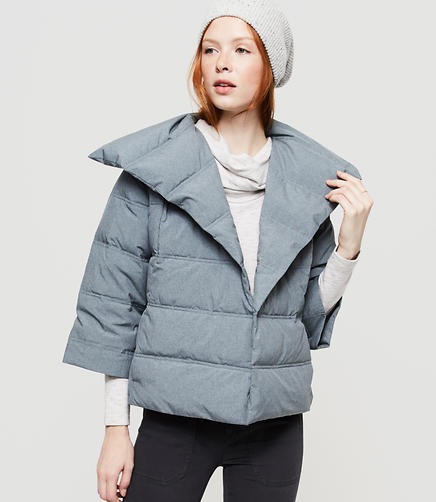 Image of Lou & Grey Heathered Puffer Jacket