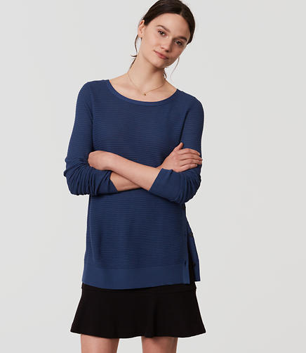 Image of Striped Side Button Sweater