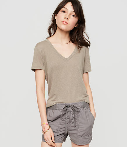 Image of Lou & Grey Linen Lite V-Neck Tee
