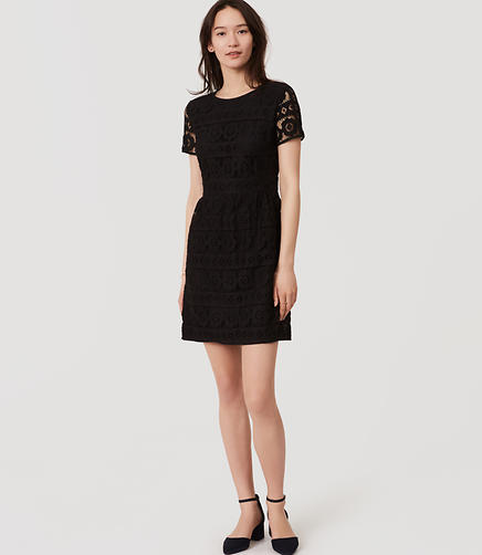 Image of Short Sleeve Lace Dress