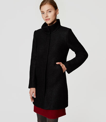 Image of Petite Funnel Neck Coat