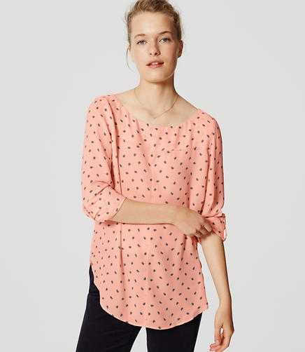 Image of Paisley Seamed Blouse