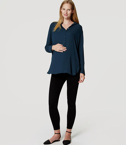 Image of Maternity Denim Leggings in Black