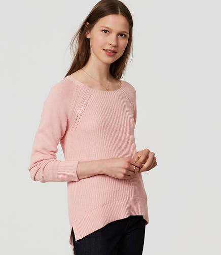 Image of Ribbed Pointelle Sweater