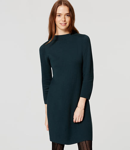 Image of Funnel Neck Sweater Dress