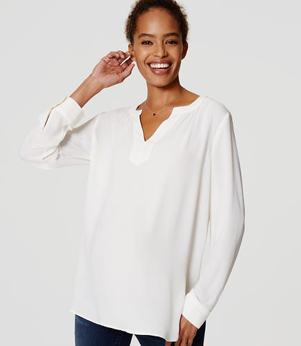 Image of Maternity Split Neck Tunic