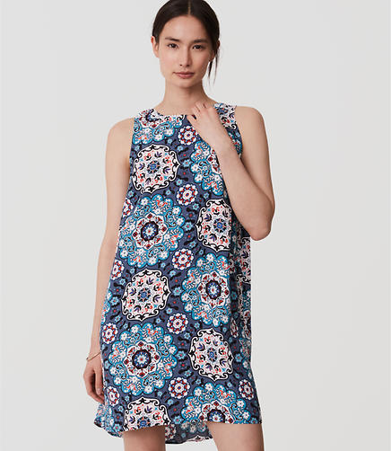 Image of Floral Medallion Shift Dress