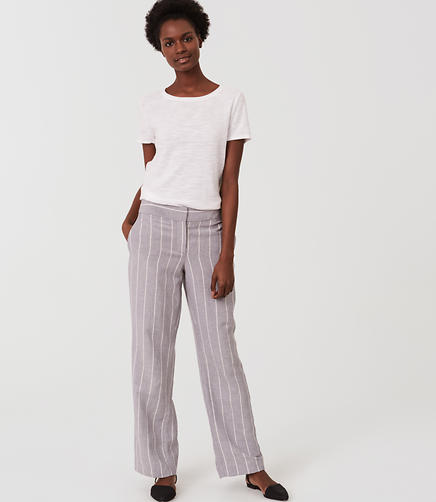 Image of Pinstripe Relaxed Trousers