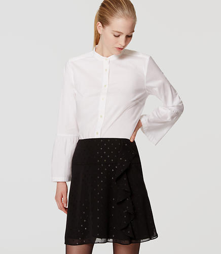 Image of Petite Shimmer Dot Cascade Skirt
