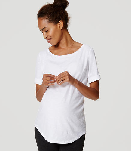 Image of Maternity Ballet Neck Tee