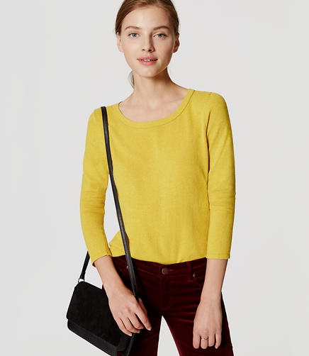Image of Petite Textured Sweater Tee