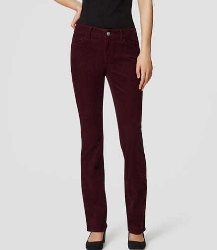 Image of Curvy Boot Cut Corduroy Pants