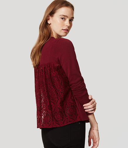 Image of Lace Back Open Cardigan