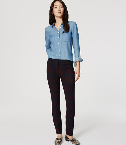 Image of Plaid Essential Skinny Ankle Pants in Marisa Fit