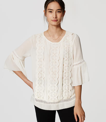 Image of Lacy Bell Sleeve Top