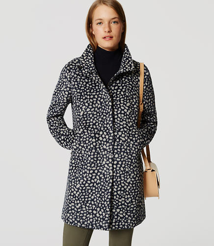 Image of Spotted Funnel Neck Coat