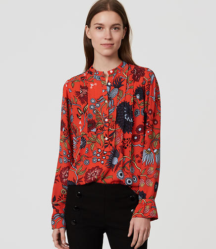 Image of Primavera Pintucked Blouse