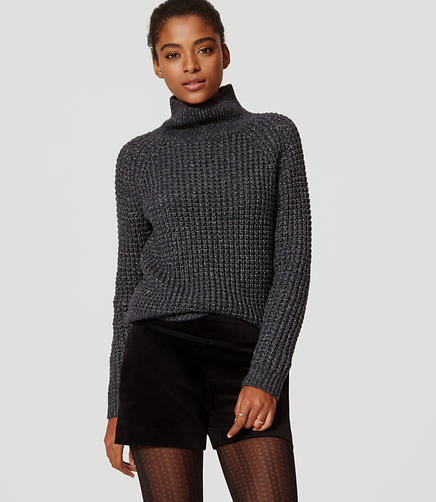 Image of Petite Shimmer Stitch Sweater