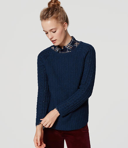 Image of Cable Sleeve Sweater