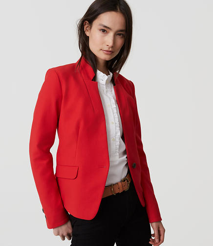 Image of Bi-Stretch Notched Blazer