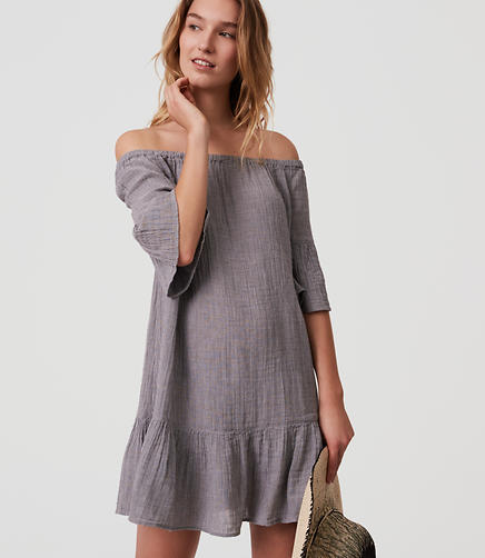 Image of Off The Shoulder Flounce Dress