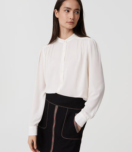 Image of Petite Puff Sleeve Blouse