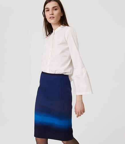 Image of Petite Ombre Pencil Skirt