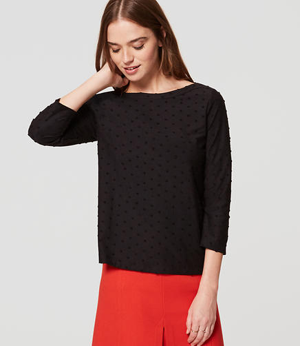 Image of Dotted Puff Sleeve Top