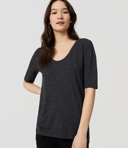 Image of Petite Shimmer Drapey Tee