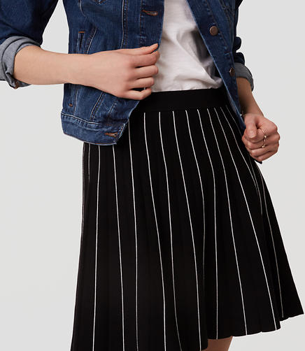 Image of Striped Sweater Skirt