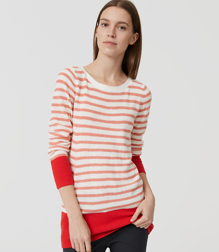 Image of Stripe Banded Sweater