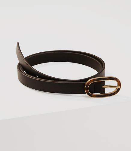 Image of Tortoiseshell Print Buckle Belt