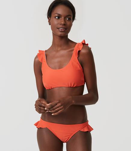 Image of LOFT Beach Ruffle Bralette Bikini Top