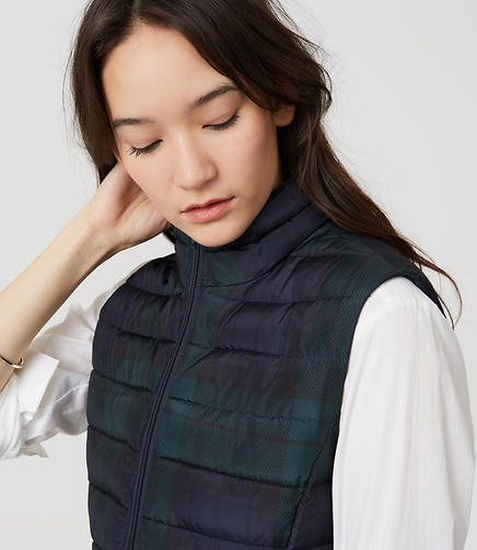 Image of Plaid Puffer Vest