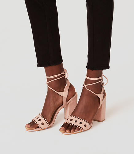 Image of Strappy Cutout Block Heels