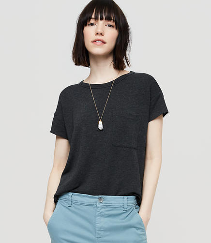 Image of Lou & Grey Signaturesoft Pocket Tunic Tee