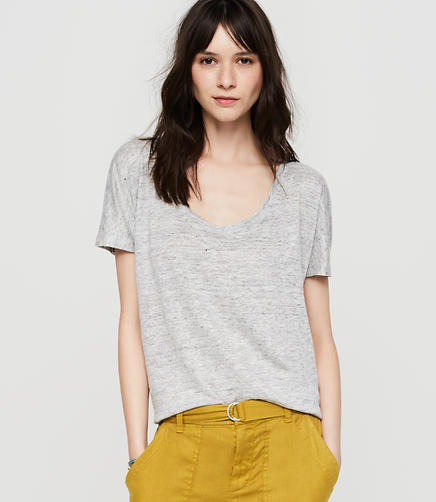 Image of Lou & Grey Linen Scoop Neck Tee