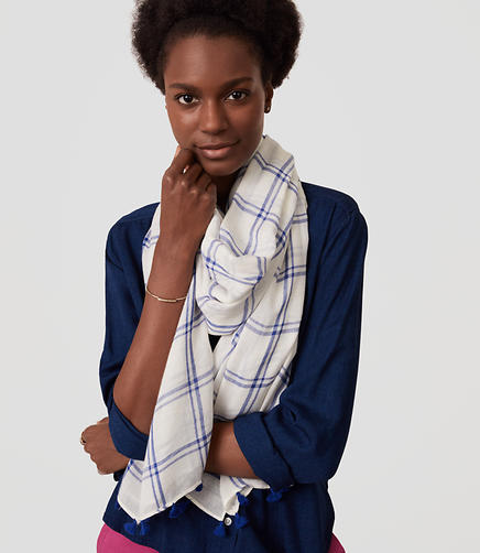Image of Plaid Scarf