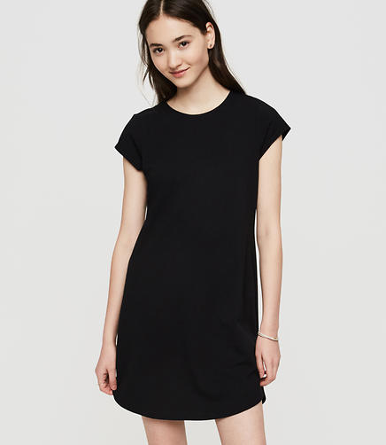 Image of Lou & Grey Sueded Jersey Tee Dress