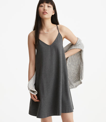 Image of Lou & Grey Sueded Jersey Swing Dress