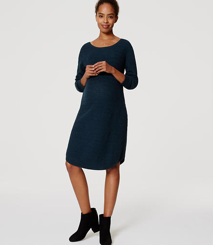 Image of Petite Maternity Textured Sweater Dress