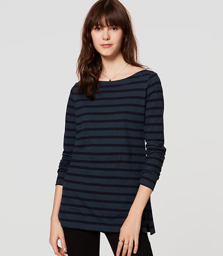 Image of Striped Vintage Soft Tunic Tee