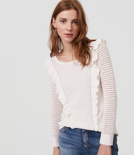 Image of Ruffle Sweater