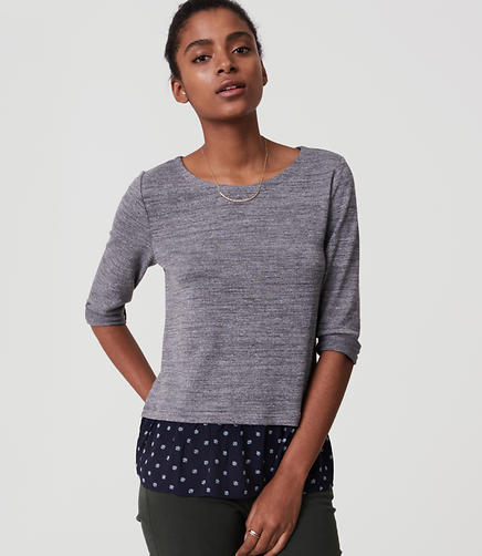 Image of Petite Shell Flounce Sweater