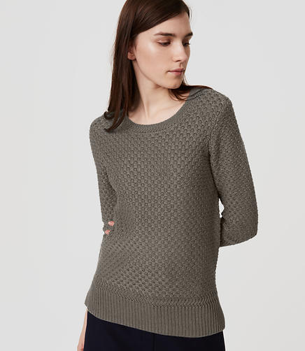 Image of Petite Basketweave Sweater